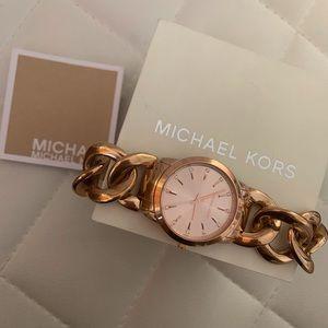 Michael Kors Elena Rose Gold Chain Bracelet